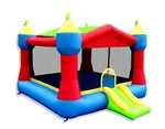 Party Castle Bouncer & Slide Bouncy House with Hoop