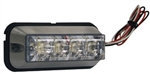 Brand New Recessed 4 LED Clear Vehicle Safety Strobe Light
