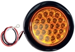 "Brand New Recessed 4"" Round Amber Strobe Light"