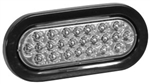 "Brand New Recessed 6-1/2"" Oval Clear Strobe Light"