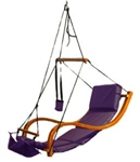 High Quality Wooden Chair Swing - Purple