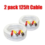 125 ft Video Power Security System Cable - Pack of 2