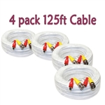 125 ft Video Power Security System Cable - Pack of 4