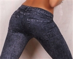 Black Hot Style Pajama Style Jeans Jeggings - One Size Fits All