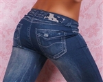 Hot Style Blue Pajama Style Jeans Jeggings - One Size Fits All