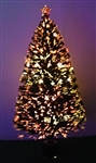High Quality 7 Foot Pre-Lit Fiber Optic Christmas Tree