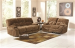 Fawn Casual Brown Ultra Plush Power Motion Sofa Set