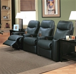 Showtime Casual Upholstered Reclining Theater Group