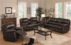 Luna Casual Split Back Leather Cushion Living Room Set