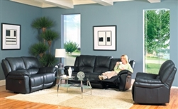 Promenade Casual Leather Reclining Living Room Set