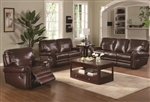 Teagan Casual Leather Sofa Set with Dual Recliners