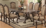7 Piece Double Pedestal Dining Table and Cushion Back Chair Set