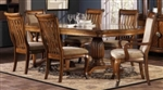 7 Piece Double Pedestal Dining Table and Chairs Set