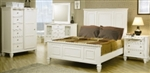 5 Piece Queen, King or California King White Classic High Headboard Bed