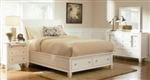 5 Piece Queen, King or California King White Sleigh Bed with Foot Board Storage