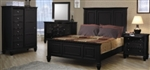 5 Piece Queen, King or California King Black Classic High Head Board Bed