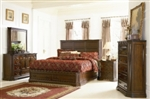 5 Piece Queen, King, or California King Bed with Storage Headboard and Built in Lighting