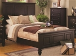 5 Piece Queen, King or California King Brown Classic High Head Board Bed