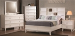 5 Piece Queen, King, or California King White Curve Bookcase Design Casual Bed
