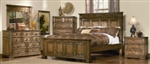 5 Piece Queen, King or California King Oak Panel Bed