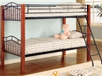 High Quality Metal and Wood Casual Twin over Twin Bunk Bed