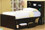 High Quality Bookcase Bed with Underbed Storage