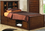 High Quality Youth Bookcase Bed with Underbed Storage