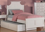High Quality Transitional White Panel Bed