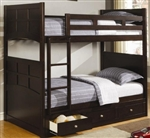 High Quality Twin Bunk Bed with Under Bed Storage Drawers