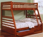 Brand New Childrens Twin over Full Bunk Bed with Under-Bed Storage