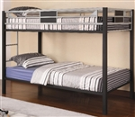 Brand New Contemporary Twin over Twin Bunk Bed
