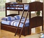 Brand New Twin Over Full Panel Bunk Bed with Under Bed Storage Unit