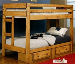 Brand New Twin Over Twin Bunk Bed with Built-In Ladders