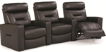 Contemporary Three Seat Home Theater Group