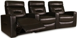 Brown Contemporary Three Seat Home Theater Group