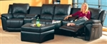 Casual Leather Reclining Theater Sectional Group