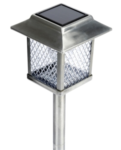 Set of 6 large outdoor stainless steel solar lights aloadofball Images