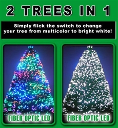 5 Foot Christmas Tree - Fiber Optic & Multi Colored