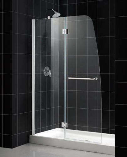 48 X 72 Hinged Shower Door W Stationary Side Glass Panel