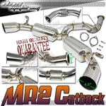 "Brand New Toyota MR2 3"" Turbo Catback Exhaust"