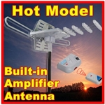 Digital Amplified TV Antenna With Built-in Rotor