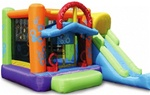 Double Shot Bouncer Bouncy House With Blower