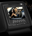 "Pair of Black 7"" Headrest Car DVD Players Monitor"