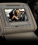 "Pair of Grey 7"" Headrest Car DVD Players Monitor"
