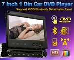 "7"" Digital HD Touch Screen Car DVD Stereo TV w/ Backup Camera"