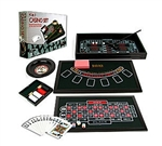 4 in 1 Casino Game Table - Craps, Roulette, Poker, Black Jack