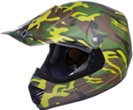 Adult Camouflage Motocross Helmet (DOT Approved)