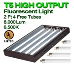 6500 Fluorescent Grow Lights for Indoor Plants T5 24