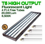 6500 Fluorescent Grow Lights for Indoor Plants T5 44