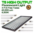 6500 Fluorescent Grow Lights for Indoor Plants T5 48